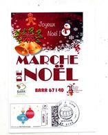 Carte Cachet Barr Noel Sur Timbre En Ligne - Marcophilie (Lettres)