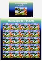 2015 St Kitts, Fauna, Birds, Hummingbirds, S/sheet + Sheet, MNH - Colibris