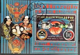 1976 Airmail Apollo Soyuz Block Gestempelt - Guinea-Bissau