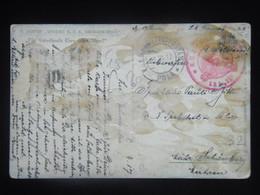 32 Austria KuK K.u.K. Marine Navy SMS S.M.S. Pola Kriegsmarine Ship Stamp Stampel 1917 S M S.M. Dampfer XX FRAM - Guerre