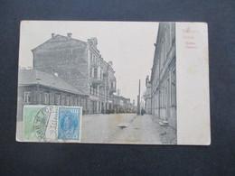 Russland / Weissrussland Ansichtskarte 1933 Minsk Postamt Bildseitig Frankierte AK Nach Jugoslawien Gesendet - Belarus