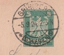 Deutsches Reich Karte Mit Tagesstempel Grünberg * Schlesien E 1924 Zielona Gora RB Liegnitz Schlesien - Deutschland