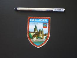 Blason écusson Adhésif Autocollant Paray Le Monial Paon Basilique Aufkleber Wappen Coat Arms Adhesivo Adesivo Stemma - Recordatorios
