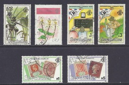 """Seychelles - 1990 Orchids, Stamp Exhibition """"London '90"""", Literacy Year, Expo Osaka, Coco-de-Mer - Used - Seychellen (1976-...)"""