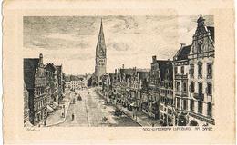 AK Lübeck, Am Sande, Zeichnung Um 1920 - Lüneburg