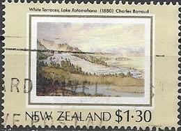 NEW ZEALAND 1988 New Zealand Heritage. The Land - $1.30 - White Terraces, Lake Rotomahana, (Charles Barraud) FU - Neuseeland