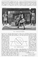 """ MAGIE - ILLUSION  ""  ( LA DECAPITATION ) Par Le PREDTIDIGITATEUR "" ALBER ""    1899 - Theatre"
