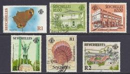 Seychelles - 1987 Butterflies Melanitis Leda, Sea Shells, Anniversary Of Liberation, Banking Buildings - Used - Seychellen (1976-...)