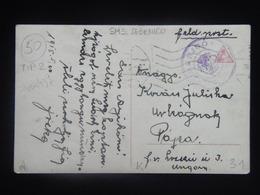31 Austria WWI KuK K.u.K. Marine Navy SMS S.M.S. Pola Kriegsmarine Ship Schiff Stamp Stampel 1917 SEBENICO - Guerre