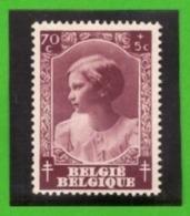 Belgique 1937 - Cob N°462 70c + 5c  - NEUF - - Belgium