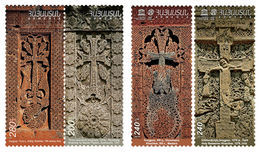 Armenia MNH** 2011 2012 2014 Set Of Armenian Traditional Crafts Artistic Stone Decoration Khachkar - Armenien