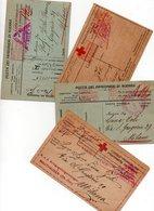 4 CARTOLINE CORRESPONDANCE DES PRISONNIERS DE GUERRE Tutte Viaggiate - 4 - Red Cross