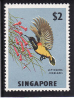 SINGAPOUR 1962-68 - Yvert N° 63 - Michel N° 67 - Scott N° 68 - Neuf** (Oiseau - Bird - $ 2) - Singapore (1959-...)
