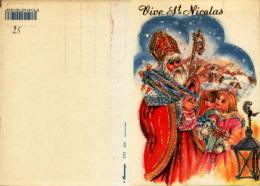 Vive Saint Nicolas - Illustration Pailletée - Saint-Nicolas