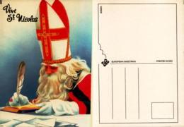 Vive Saint Nicolas - Illustration Saint Nicolas écrivant Avec Une Plume - Saint-Nicolas