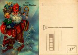 Vive Saint Nicolas -superbe Illustration,saint Nicolas,  Hôte à Jouets, Crosse, Enfant - Saint-Nicolas