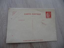 Entier France Vierge Type Paix 90 C + 90 C Rouge Carte Postale En Réponse Payée YT 285 CPRP1 Date 540 Côte - Postwaardestukken
