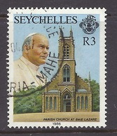 Seychelles - 1986 Visit Of Pope John Paul II, Parish Church, Baie Lazare, Religion - Used - Seychellen (1976-...)