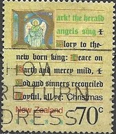 NEW ZEALAND 1988 Christmas. Carols - 70c - Hark The Herald Angels Sing AVU - Neuseeland