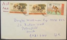Tanzania - Cover To England 1984 Fauna Giraffe Olympic Games Boxing - Tansania (1964-...)