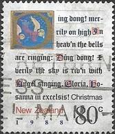 NEW ZEALAND 1988 Christmas. Carols - 80c - Ding Dong Merrily On High AVU - Neuseeland