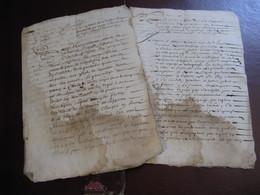 2 DOCUMENTS MANUSCRITS SUR RECHERCHES USURPATION NOBLESSE FAMILLE DE BOULIEU AOUT 1668 Signé VIVARAIS - Manuscritos