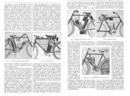 LES BICYCLETTES AUTOMOBILES ( BOUILLY / RIDEL / DUREY / OMEGA / HERTSCHMANN )  1899 - Vervoer