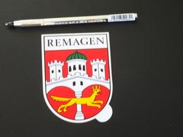Blason écusson Adhésif Autocollant Remagen Aufkleber Wappen Coat Arms Adhesivo Adesivo Stemma - Recordatorios