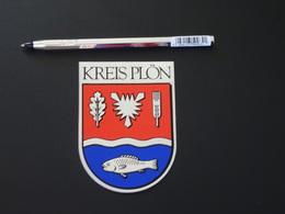 Blason écusson Adhésif Autocollant Kreis Plön Aufkleber Wappen Coat Arms Adhesivo Adesivo Stemma - Recordatorios