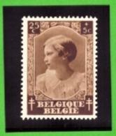 Belgique 1937 - Cob N°459 25c + 5c  - NEUF - - Belgium