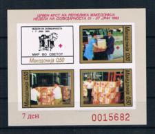 Mazedonien 1993 Rotes Kreuz Block 8 B ** - Mazedonien