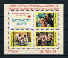 Mazedonien 1993 Rotes Kreuz Block 7 A ** - Mazedonien