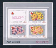 Mazedonien 1993 Rotes Kreuz Block 6 B ** - Mazedonien
