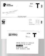 LOT 39 ENVELOPPES ENTIERS POSTREPONSE LOGOS ET AFFRANCHISSEMENTS  VARIES (cf Scan) - Entiers Postaux