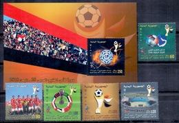 2010 Republic Of Yemen Arab Gulf Cup Tournament Complete Set 5 Stamps + Souvenir Sheets MNH - Jemen
