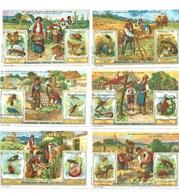 Chromos ANIMAUX NUISIBLES Animals SCHADELIJKE (FR) (PB) Pub: Chicorée Talpe 108 X 70 Mm 2 Scans Série Complète - Tee & Kaffee