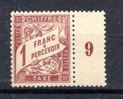 France 1893/1935 T²axes N°40 Neuf Brun Sur Paille Sans Charnière - 1859-1955 Mint/hinged