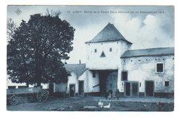 CPA LIGNY : Entrée Ferme DENIS Défendue Par Les Allemands En 1815 - Circulée 1909 - 2 Scans - Sombreffe