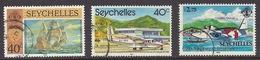 Seychelles - 1981 Ships, Vasco Da Gama, Airport, Airplanes, Manned Flight Grumman Albatross, Bateau - Used - Seychellen (1976-...)