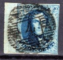 11A Bien Margé Avec Bord De Feuille - Oblitération P4 De ANVERS - 1858-1862 Medallions (9/12)