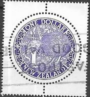NEW ZEALAND 1988 Brown Kiwi - $1 - Violet AVU - Neuseeland