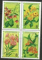 St Thomas & Prince. - 1980 Flowers Block Of 4 MNH ** - São Tomé Und Príncipe