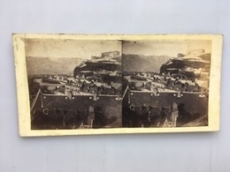 1870 Carte Stéréoscopique Stéréo Photo Grenoble Et Alpes Dauphinoises Montagne St Vizier Pont Halot Et De Fer - Grenoble