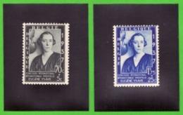 Belgique 1937 - Cob N°456/57  - MLH - - Belgium