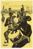 Abidjan Hôtel Ivoire Illustration Joueurs De Tam Tam - Ivory Coast