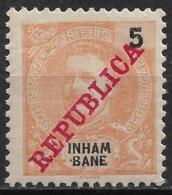 Inhambane – 1911 King Carlos Overprinted REPUBLICA 5 Réis Mint - Inhambane