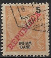 Inhambane – 1911 King Carlos Overprinted REPUBLICA 5 Réis Used Stamp - Inhambane