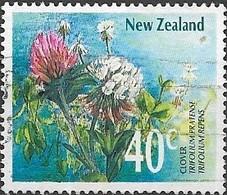 NEW ZEALAND 1989 Wild Flowers - 40c - Clover FU - Neuseeland