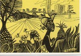 Abidjan Hôtel Ivoire Illustration La Cueillette Des Ananas - Ivory Coast