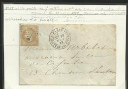 étoiles De Paris : étoile N° 35 Sur Enveloppe Ministère Des Finances - 1849-1876: Klassieke Periode